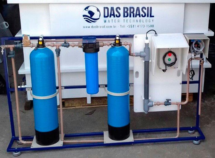Sistema de captação de água da chuva residencial