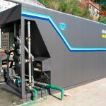 Estação compacta de tratamento de efluentes industriais