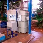 Estação compacta de tratamento de esgoto residencial